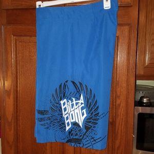 Billabong blue board shorts, 32 waist